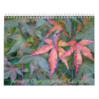 Alrededor de Olympia WA, un calendario 2015 de