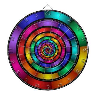 Alrededor de y arte moderno colorido psicodélico