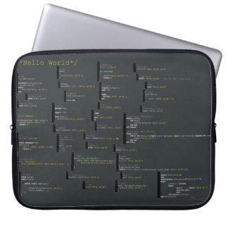 Alrededor hola del bolso del ordenador portátil de fundas computadoras