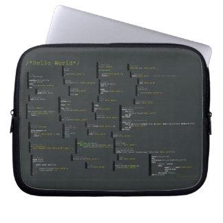 Alrededor hola del bolso del ordenador portátil de manga portátil