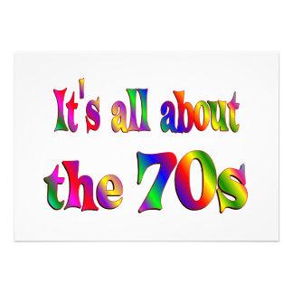 Alrededor los años 70 invitacion personal