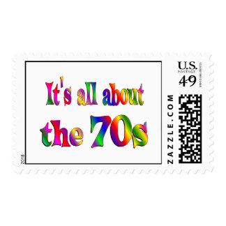 Alrededor los años 70 sello