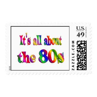 Alrededor los años 80 sello postal
