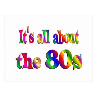 Alrededor los años 80 tarjeta postal