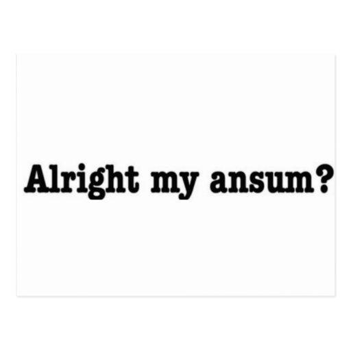 Alright_my_ansum Tarjetas Postales