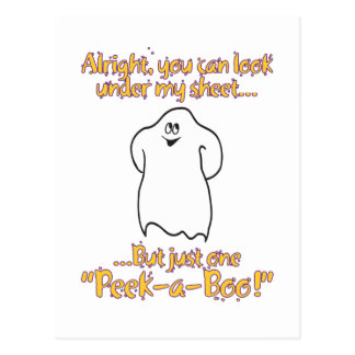 Alright you can look under my sheet – Peek-a-Boo Postcard