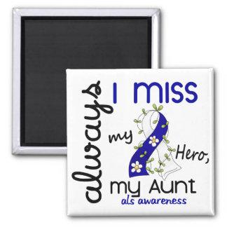 ALS Always I Miss My Aunt 3 2 Inch Square Magnet