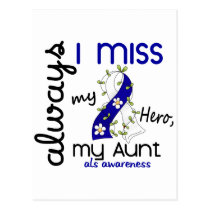ALS Always I Miss My Aunt 3 Postcard