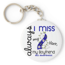 ALS Always I Miss My Boyfriend 3 Keychain