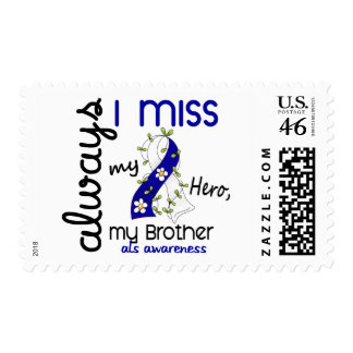 ALS Always I Miss My Brother 3 Postage Stamps