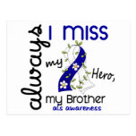 ALS Always I Miss My Brother 3 Postcard