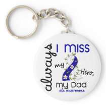 ALS Always I Miss My Dad 3 Keychain