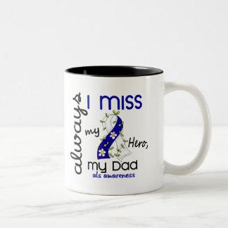 ALS Always I Miss My Dad 3 Two-Tone Coffee Mug
