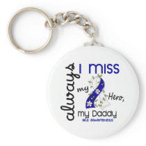 ALS Always I Miss My Daddy 3 Keychain