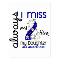 ALS Always I Miss My Daughter 3 Postcard