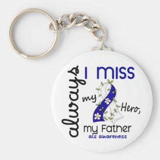 ALS Always I Miss My Father 3 Basic Round Button Keychain