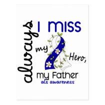 ALS Always I Miss My Father 3 Postcard