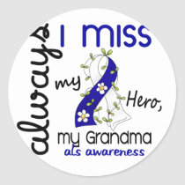 ALS Always I Miss My Grandma 3 Classic Round Sticker