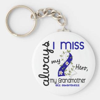 ALS Always I Miss My Grandmother 3 Basic Round Button Keychain