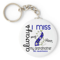 ALS Always I Miss My Grandmother 3 Keychain