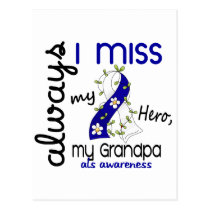 ALS Always I Miss My Grandpa 3 Postcard