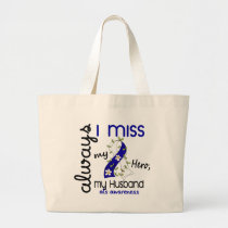 ALS Always I Miss My Husband 3 Large Tote Bag