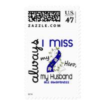 ALS Always I Miss My Husband 3 Postage