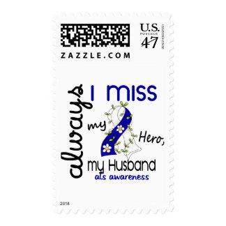 ALS Always I Miss My Husband 3 Postage Stamp