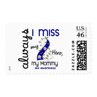 ALS Always I Miss My Mommy 3 Postage Stamp