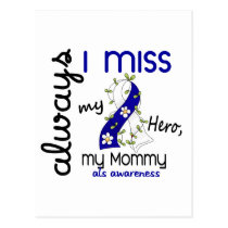 ALS Always I Miss My Mommy 3 Postcard