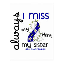 ALS Always I Miss My Sister 3 Postcard
