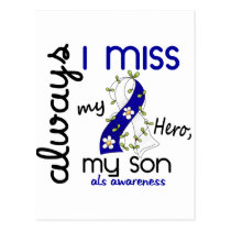 ALS Always I Miss My Son 3 Postcard