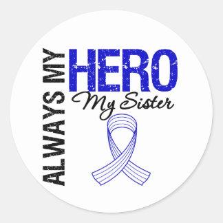 ALS Always My Hero My Sister Round Sticker