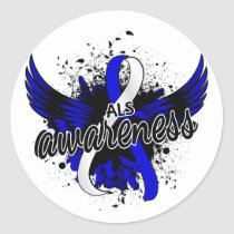 ALS Awareness 16 Classic Round Sticker