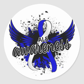 ALS Awareness 16 Classic Round Sticker