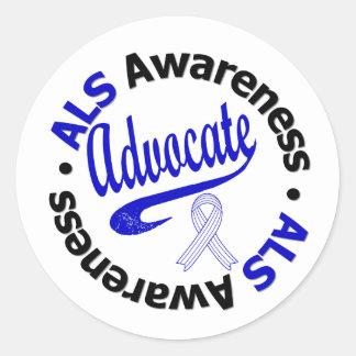 ALS Awareness ADVOCATE Round Sticker