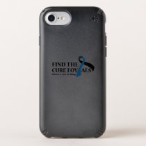 ALS Awareness Amyotrophic Lateral Sclerosis Speck iPhone Case