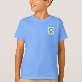 ALS Awareness Blue Ribbon Angel Custom Tee