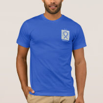 ALS Awareness Blue Ribbon Angel Custom Tee