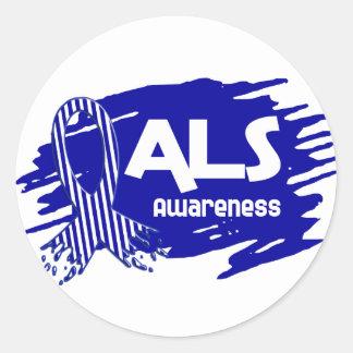 ALS Awareness F5 Classic Round Sticker