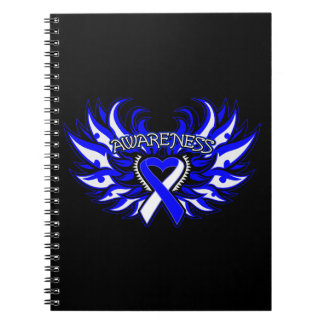 ALS Awareness Heart Wings Note Books