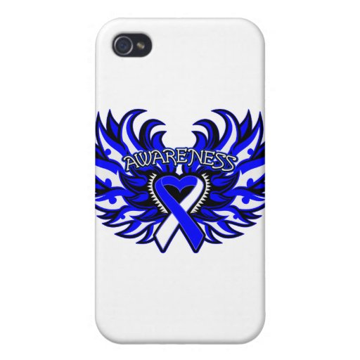 ALS Awareness Heart Wings.png iPhone 4/4S Cases