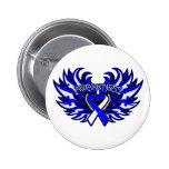 ALS Awareness Heart Wings.png Pinback Buttons