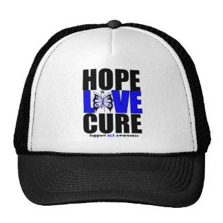 ALS Awareness Hope Love Cure (V.2) Trucker Hat
