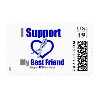 ALS Awareness I Support My Best Friend Stamps
