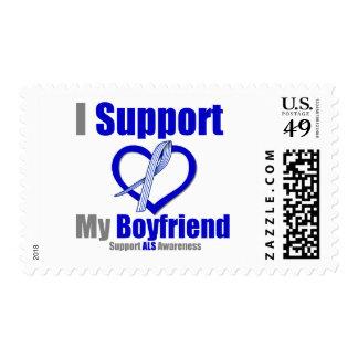 ALS Awareness I Support My Boyfriend Postage Stamp