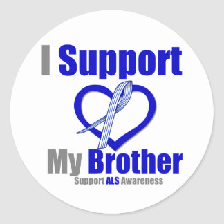 ALS Awareness I Support My Brother Classic Round Sticker