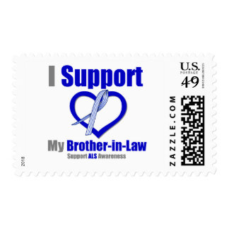 ALS Awareness I Support My Brother-in-Law Postage Stamp