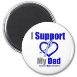 ALS Awareness I Support My Dad Fridge Magnets