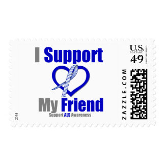 ALS Awareness I Support My Friend Stamps